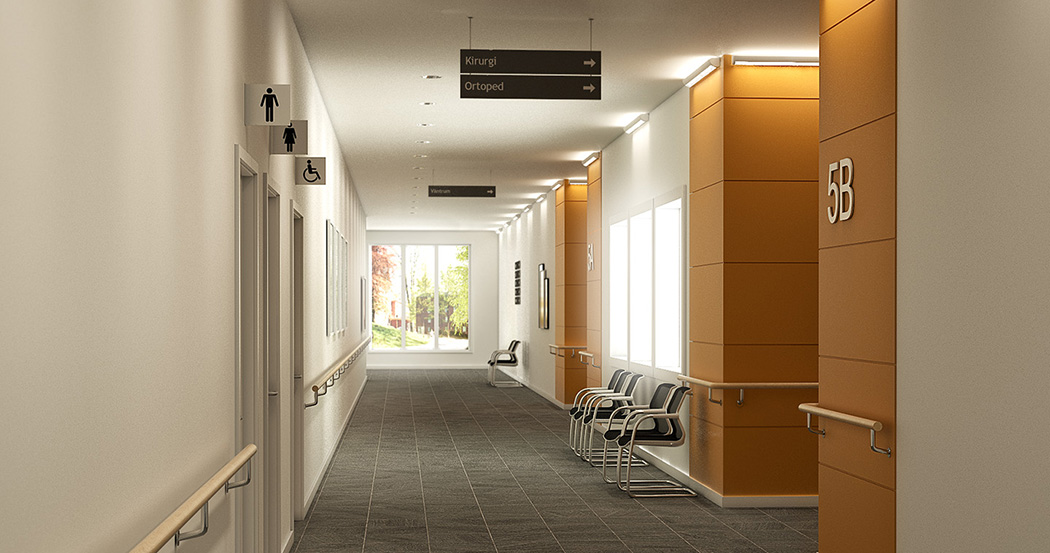 Lighting In Hospital Corridors Fagerhult International