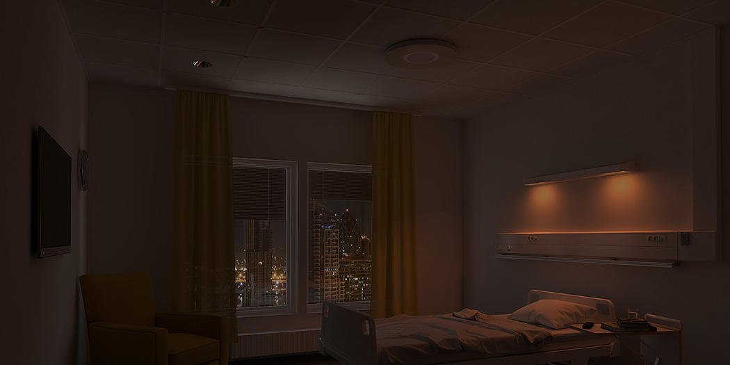 lighting rooms. Lighting Is Also Needed In Patient Rooms At Night And Then Preferably Light Without Blue Elements So That Important Night-time Sleep Not Disturbed. T