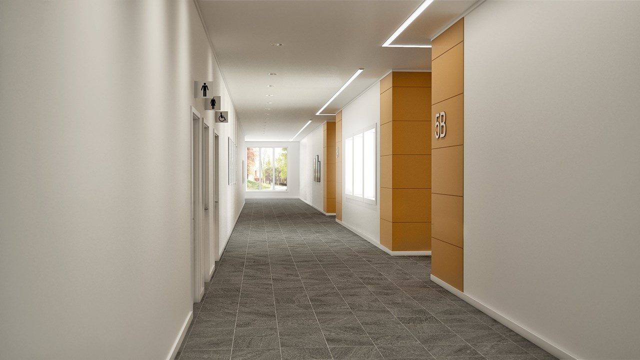 Hospital Corridor Lighting Design: Fagerhult (International