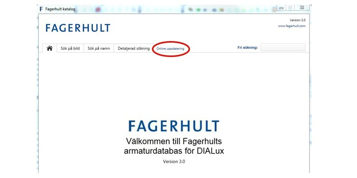 How do I auto-update the DIALux database? - Fagerhult
